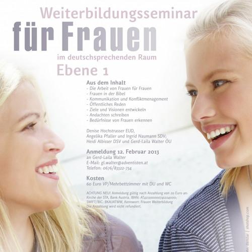 Bild zum Weblog Weiterbildungsseminar für Frauen, 22.-25.02.13
