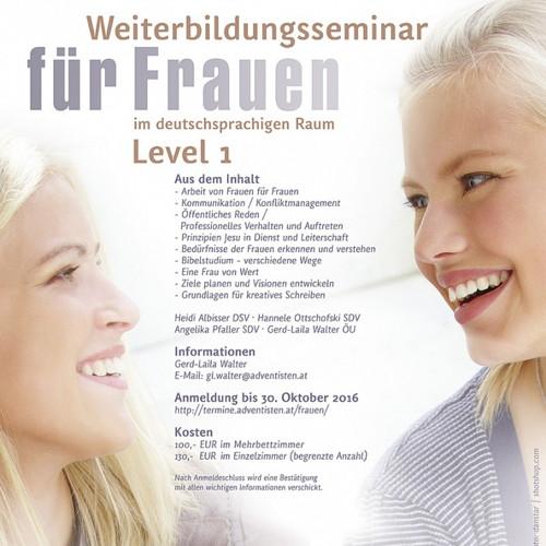 Bild zum Weblog Weiterbildung für Frauen Level 1 10.-13.11. 2016